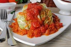 Stuffed savoy cabbage Stock Photos