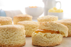 Stuffed Scones royalty free stock photos