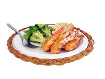 Stuffed shrimp dinner Royalty Free Stock Photo