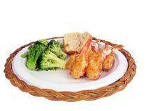 Stuffed shrimp dinner 2 Stock Photos