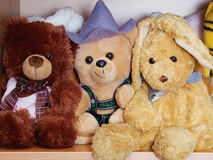 Stuffed soft animal toys waiting for a child to play Stock Photography