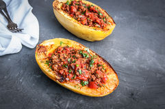 Stuffed Spaghetti Squash Stock Photos