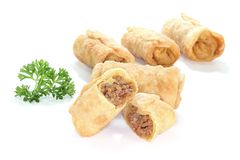 Stuffed Spring rolls Royalty Free Stock Photos