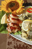 Stuffed squid Stock Photo