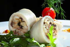 Stuffed squid Stock Photography