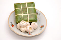 Stuffed sticky rice cake Stock Photography