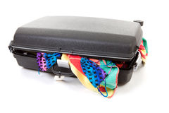 Stuffed suitcase Stock Images