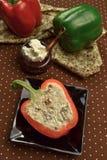 Stuffed sweet paprika Royalty Free Stock Photo