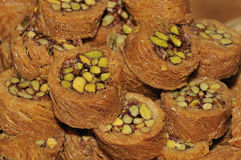 Stuffed sweet peanut. Authentic Turkish sweet made from pulp and nuts royalty free stock photo