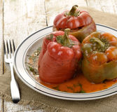 Stuffed Sweet Peppers Stock Image