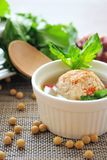Stuffed Tofu Ball. Tofu and ground beef balls stuffed with sausage and shepherd's-purse leaves, which are simmered in savory soup Royalty Free Stock Image