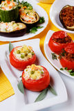 Stuffed tomato Stock Image