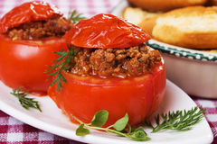 Stuffed tomato Stock Photography