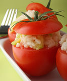 Stuffed tomato Stock Photo
