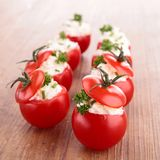 Stuffed tomato with cheese Royalty Free Stock Photos