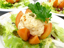 Stuffed tomato with tuna 2 Royalty Free Stock Photography