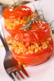 Stuffed tomato with wheat Stock Images
