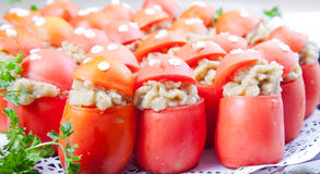 Stuffed tomatoes Stock Photography