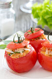Stuffed tomatoes with cheese and breadcrumbs Stock Photo