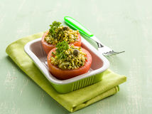 Stuffed tomatoes Stock Images