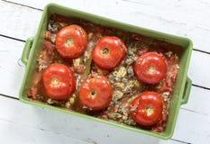 Stuffed tomatoes Stock Image