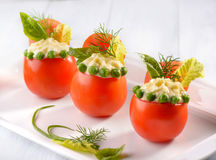 Stuffed tomatoes Stock Photos