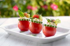 Stuffed tomatoes Royalty Free Stock Photo