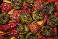 Stuffed tomatoes and peppers Royalty Free Stock Photos
