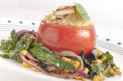 Stuffed tomatoes stock photography
