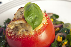 Stuffed tomatoes royalty free stock images