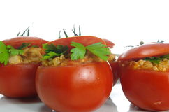 Stuffed tomatoes Stock Photo