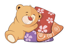 A stuffed toy bear cub cartoon Royalty Free Stock Images