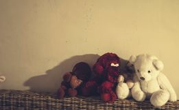 Stuffed toy bear, mokey and a dog Stock Images