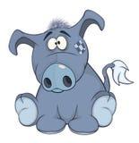The stuffed toy burro cartoon Stock Photography