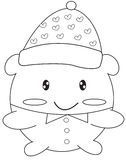Stuffed toy coloring page Royalty Free Stock Image
