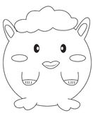 Stuffed toy coloring page Stock Images