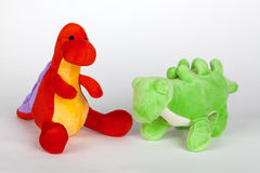 Stuffed toy dinosaurs Stock Photography