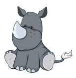 The stuffed toy rhinoceros cartoon royalty free illustration