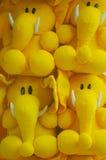Stuffed toys. Soft stuffed toys - elephant shape royalty free stock photos