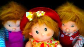 Stuffed Toys. Three stuffed toys with dark background stock photos
