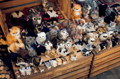 Stuffed toys at market place in Wroc�aw Royalty Free Stock Photography