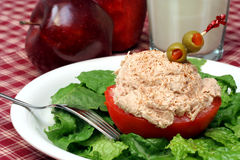 Stuffed Tuna Tomato Stock Images