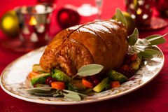 Stuffed turkey breast Royalty Free Stock Photos