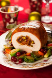Stuffed turkey breast Stock Photos