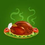 Stuffed turkey with salad and lemon Stock Image