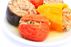 Stuffed vegetables Royalty Free Stock Images