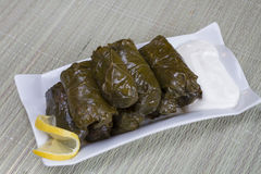 Stuffed vine leaves Royalty Free Stock Photo