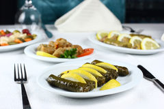 Stuffed vine leaves Stock Photo