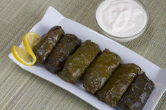 Stuffed vine leaves with meat Stock Images