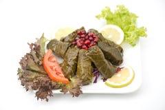 Stuffed vine leaves plate lebanese cuisine Stock Photo